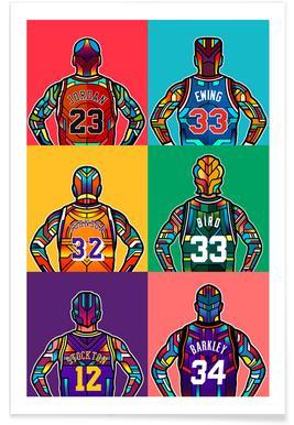 NBA Legends Poster
