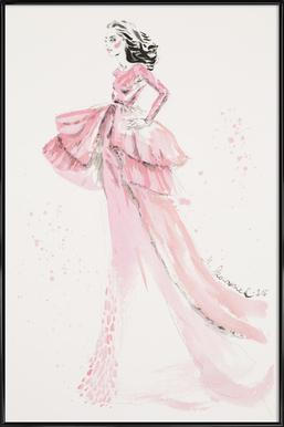 Pink gown Framed Poster