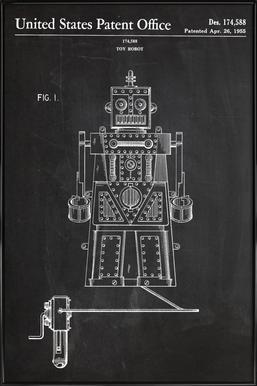 Robot ingelijste poster