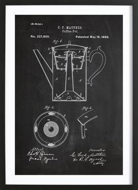 Coffee Pot Framed Print
