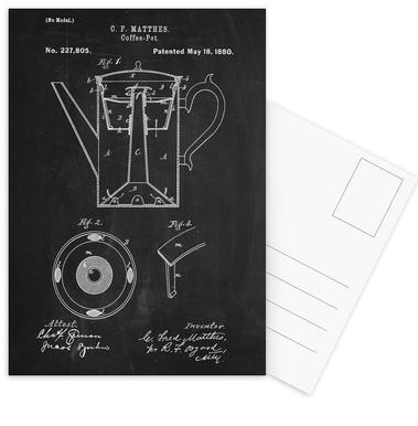 Coffee Pot Postcard Set