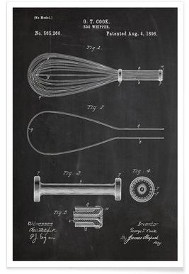Schneebesen-Patent -Poster