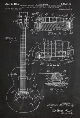 Guitar acrylglas print