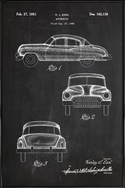 Automobile ingelijste poster