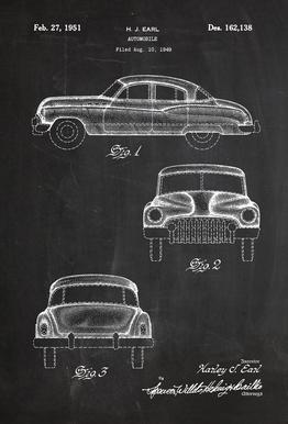 Automobile acrylglas print
