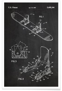 Snowboard moderne - Brevet affiche