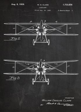 Airplane canvas doek