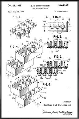Brick System 1 ingelijste poster
