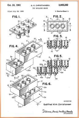 Brick System 1 Poster in Aluminium Frame