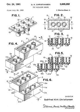 Brick System 1 canvas doek