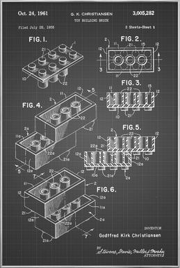 Brick System 2 poster in aluminium lijst