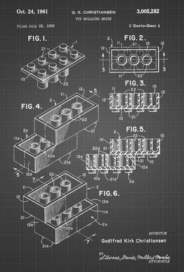 Brick System 2 acrylglas print