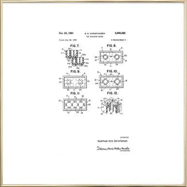 Brick System 3 poster in aluminium lijst