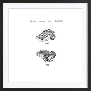 Brick Wheel 1 Framed Print