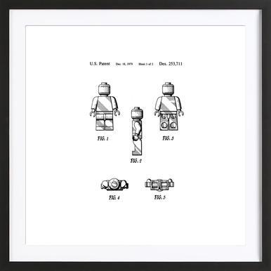 Brick Man 1 ingelijste print