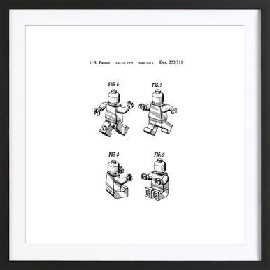 Brick Man 2 ingelijste print