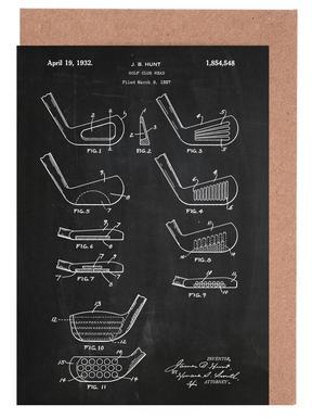 Golf Head -Grußkarten-Set