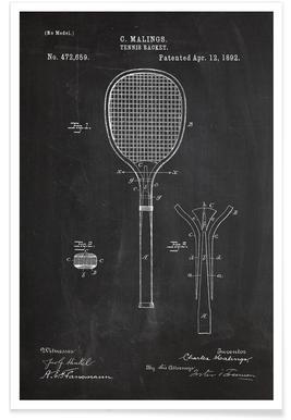 Tennis Racket - Premium Poster