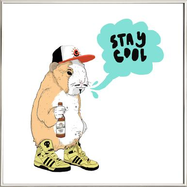 Stay Cool Poster in Aluminium Frame