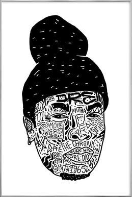 Dr.Dre -Poster im Alurahmen