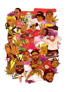 Rap Legends -Leinwandbild