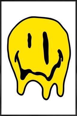 Smiley ingelijste poster
