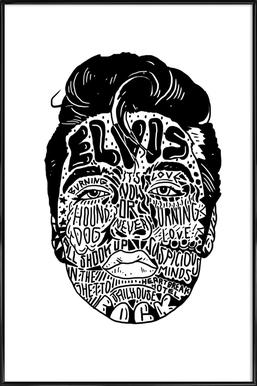 Elvis ingelijste poster