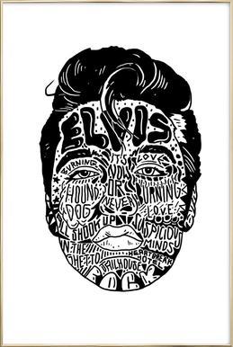 Elvis Poster in Aluminium Frame