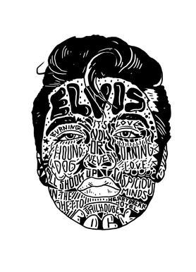 Elvis canvas doek
