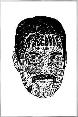 Freddie poster in aluminium lijst