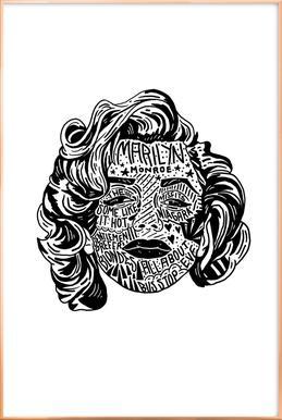 Marylin poster in aluminium lijst