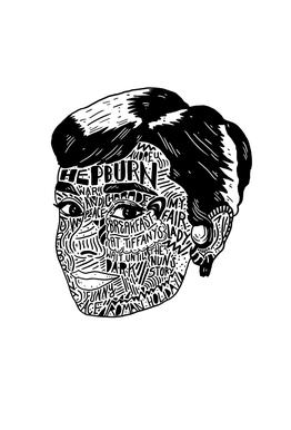 Audrey acrylglas print