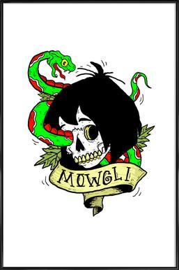 Mowgli ingelijste poster