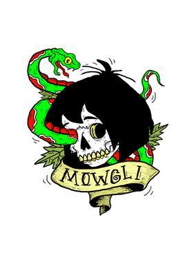 Mowgli canvas doek