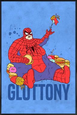Gluttony ingelijste poster