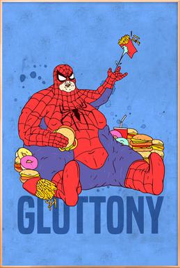 Gluttony Poster in Aluminium Frame