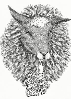 Sheeps Do It Better -Leinwandbild
