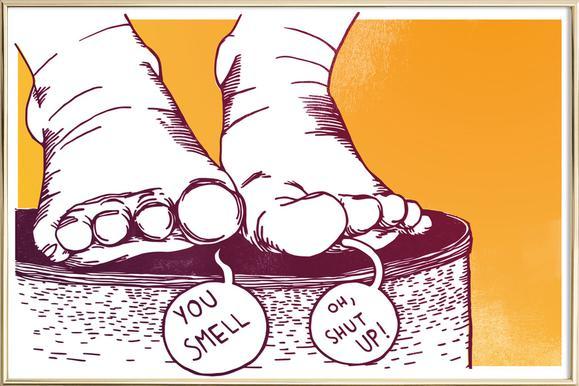 You Smell -Poster im Alurahmen
