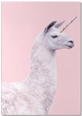 Llama Unicorn -Notizblock