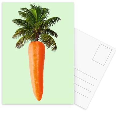 Palm Carrot Postcard Set