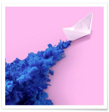 Paper Boat -Poster