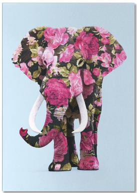 Floral Elephant Notepad