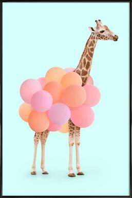 Party Giraffe - Poster in Standard Frame