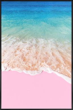 Pink Sand - Poster im Kunststoffrahmen