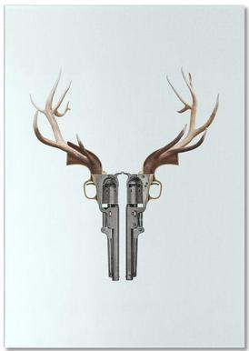 Gun Skull Notepad