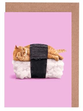 Sushi Cat cartes de vœux