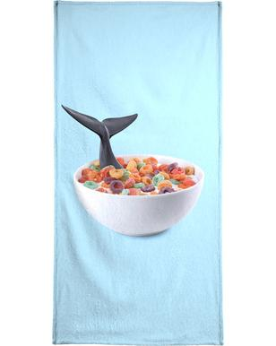 Whale Cereal Bath Towel