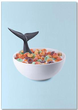 Whale Cereal Notepad