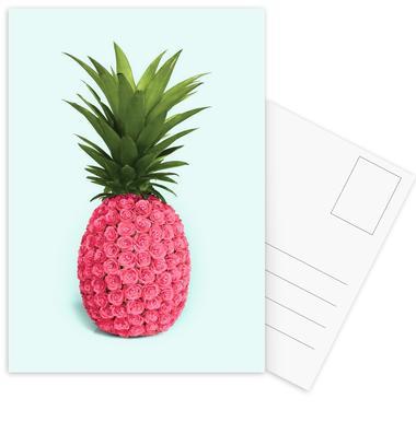Pineapple Roses cartes postales