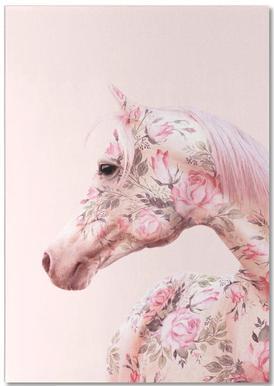 Floral Horse bloc-notes